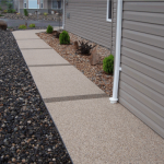 Sierra Stone for all surfaces walkways, porches, steps and more.